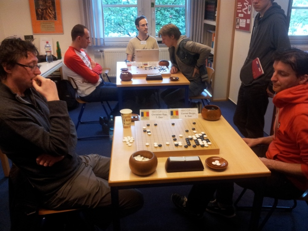 front: Cristian Pop (l.) vs. Burzo Corneel (r.) / back: Mateusz Surma (l.) vs. Ilya Shikshin (r.) on 2nd day (15th May 2016) of 8th Kido Cup 2016 - picture: © LinuxGooo